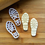 Set of 2 Shoe Print Cookie Cutters/Dishwasher Safe