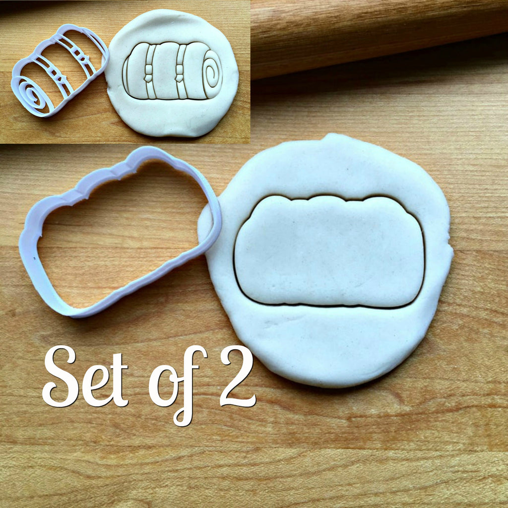 Set of 2 Sleeping Bag Cookie Cutters/Dishwasher Safe