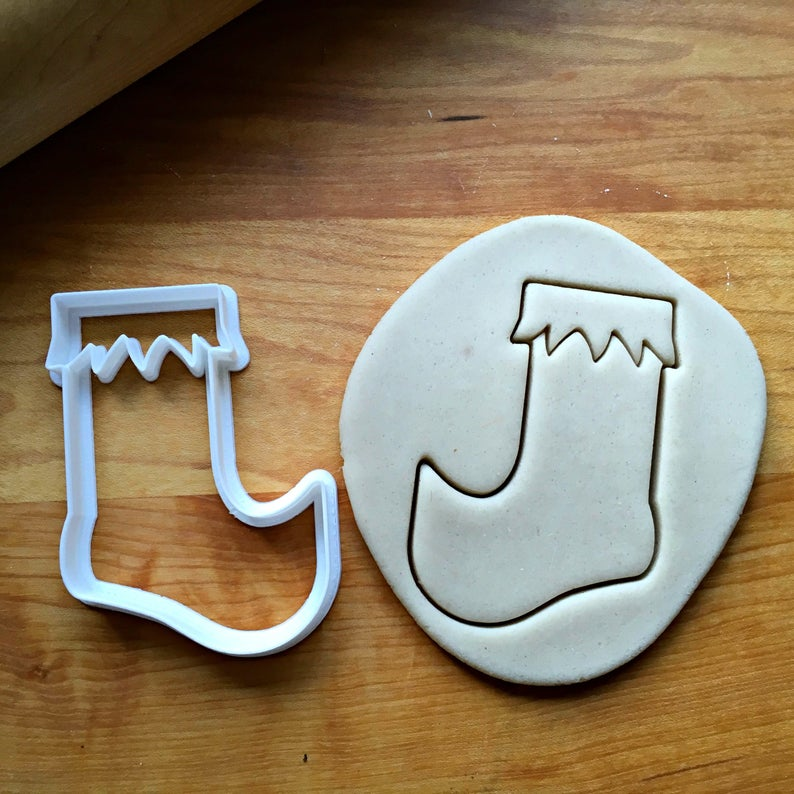 Elf Stocking Cookie Cutter/Dishwasher Safe