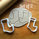 Set of 2 Elf Stocking Cookie Cutters/Dishwasher Safe