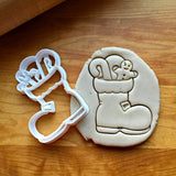 Stuffed Santa Boot Cookie Cutter/Dishwasher Safe