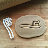 Toothbrush with Paste Cookie Cutter/Dishwasher Safe