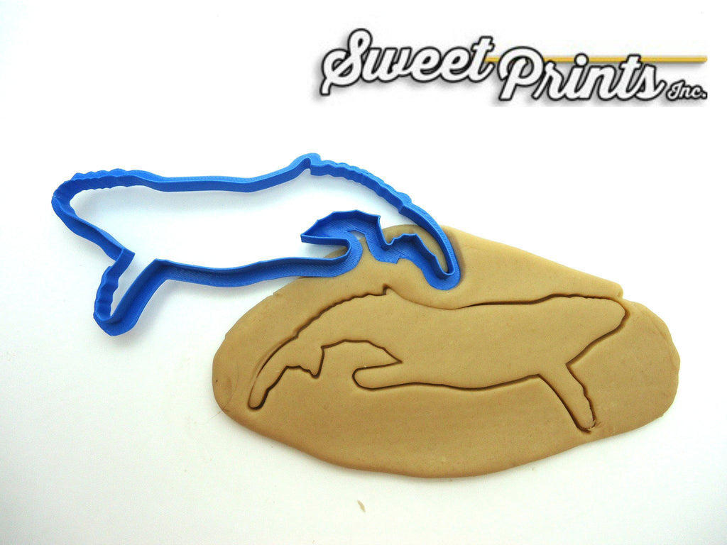 Humpback Whale Outline Cookie Cutter/Dishwasher Safe