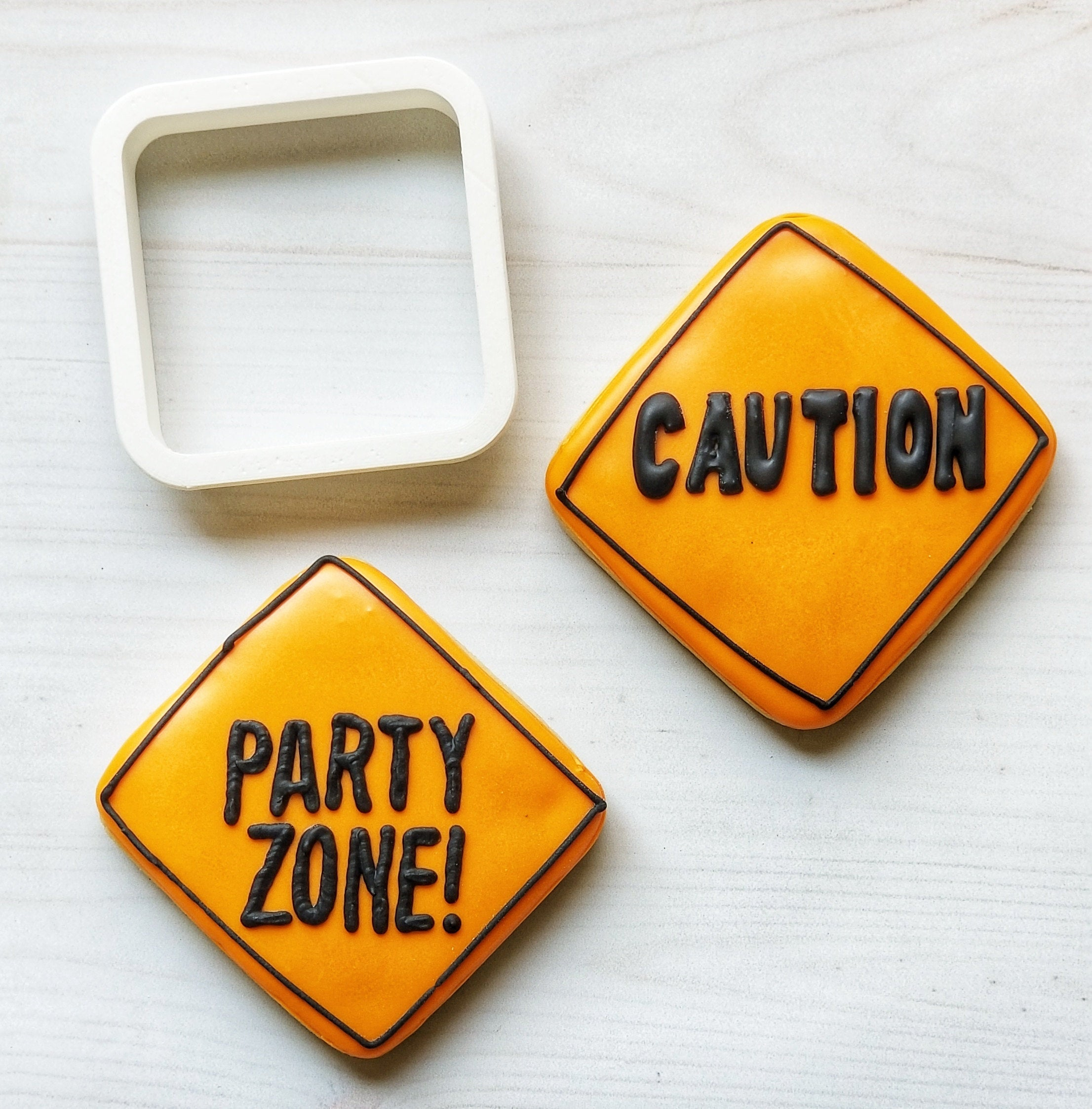 Construction Sign Cookie Cutter/Dishwasher Safe