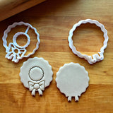 Set of 2 Wreath Cookie Cutters/Dishwasher Safe