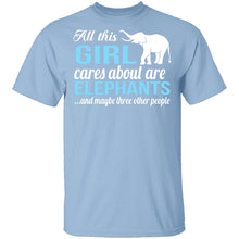 All I Care About Is Elephants T-Shirt