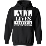 All lives matter Hoodie 8 oz. CustomCat