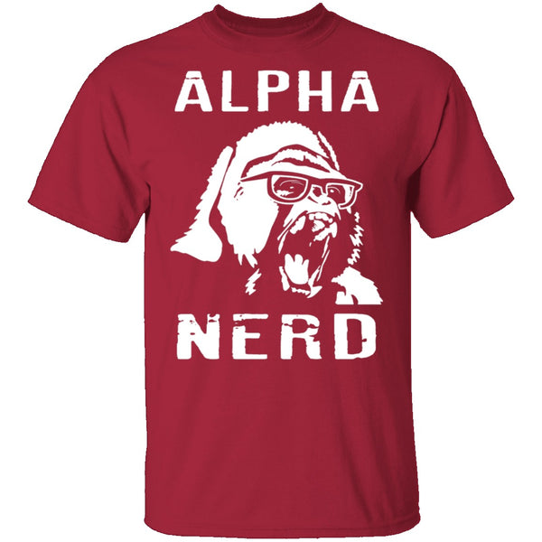 Alpha Nerd T-Shirt CustomCat