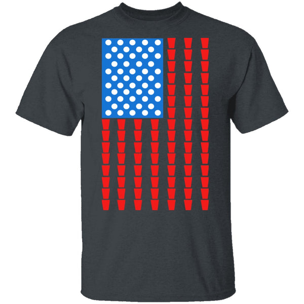 American Beer Pong T-Shirt CustomCat
