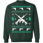 Assault Rifle Ugly Christmas Sweater CustomCat