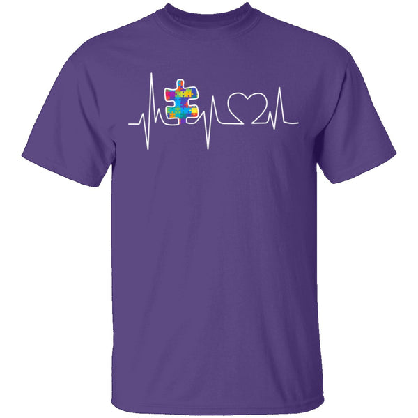 Autism Heartbeat T-Shirt CustomCat