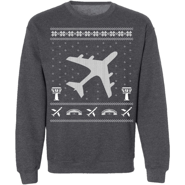 Aviation Ugly Christmas Sweater CustomCat