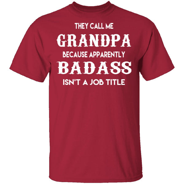 Badass Grandpa T-Shirt CustomCat
