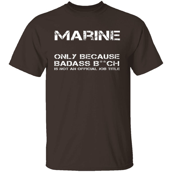 Badass Marine T-Shirt CustomCat