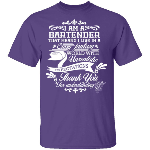 Bartender Fantasy World T-Shirt CustomCat
