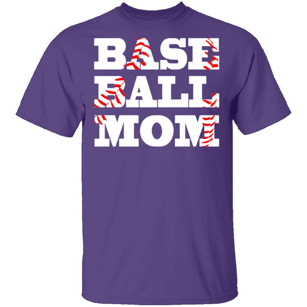 Baseball Mom T-Shirt CustomCat