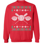 Baseball Ugly Christmas Sweater CustomCat