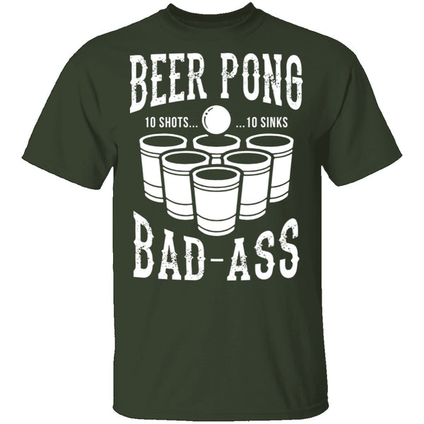 Beer Pong Badass T-Shirt CustomCat