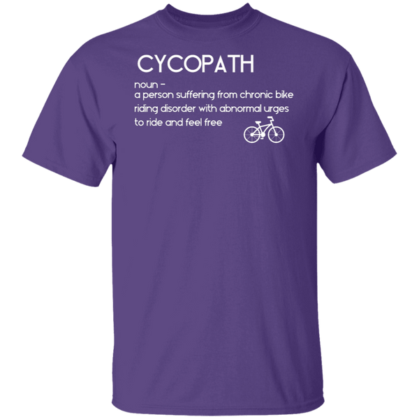 Bicyclist Cycopath Definition T-Shirt CustomCat