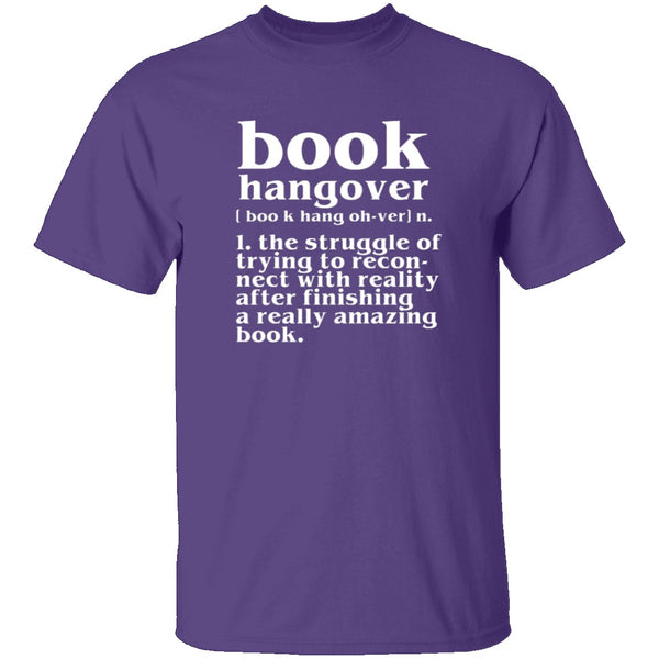 Book Hangover T-Shirt CustomCat
