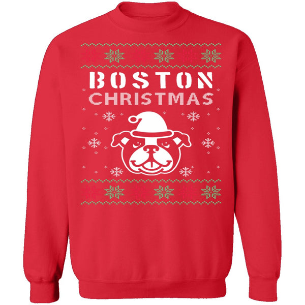 Boston Terrier Ugly Christmas Sweater CustomCat