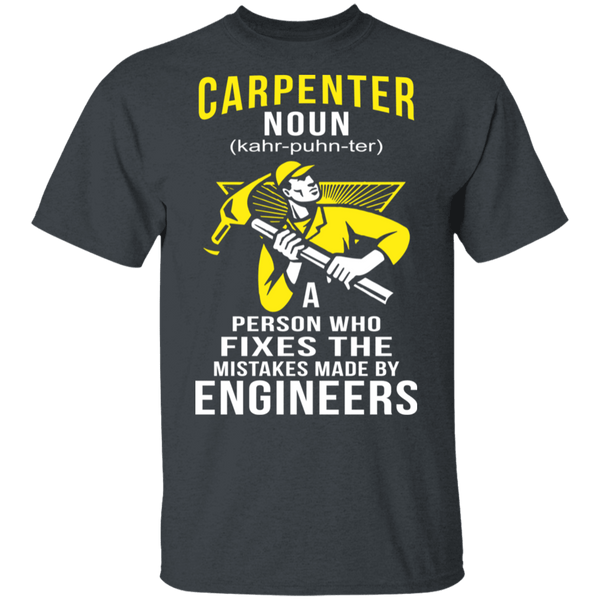 Carpenter Definition T-Shirt CustomCat
