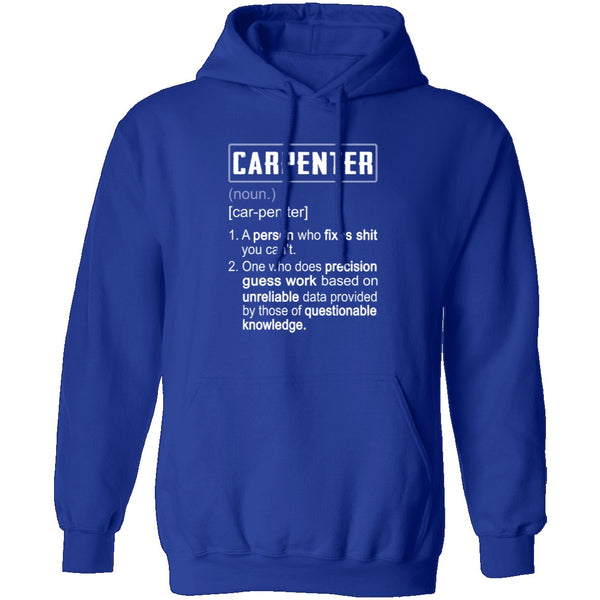 Carpenter Description T-Shirt CustomCat