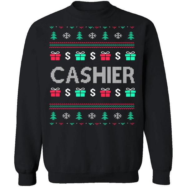 Cashier Ugly Christmas Sweater CustomCat