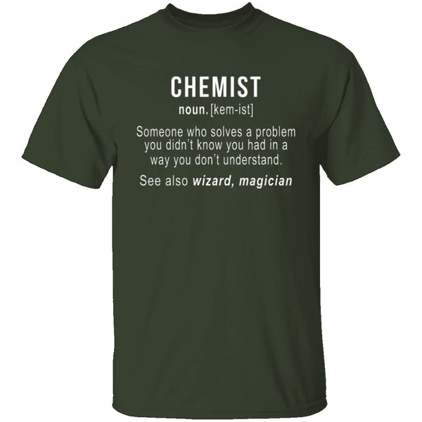 Chemist Definition T-Shirt CustomCat