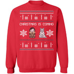 Christmas Is Coming Ugly Christmas Sweater CustomCat