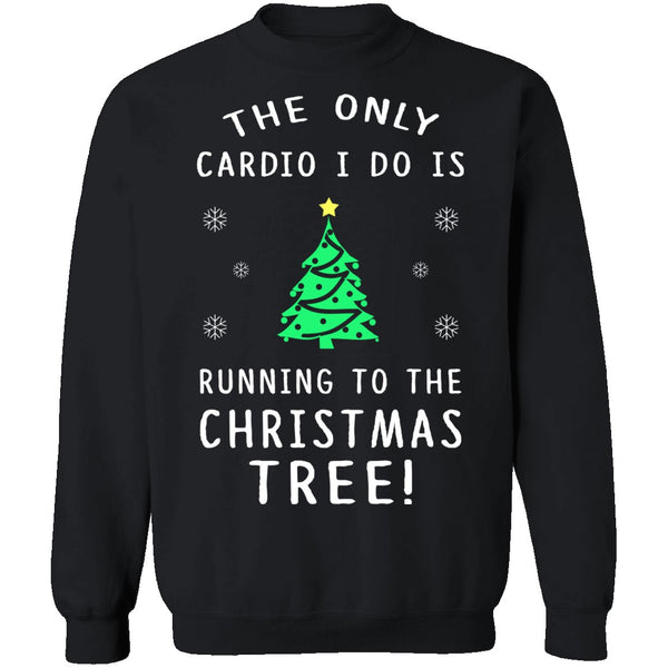 Christmas Tree Cardio T-Shirt CustomCat