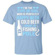 Cold Beer And Fishing Pole T-Shirt