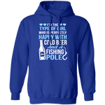 Cold Beer And Fishing Pole T-Shirt CustomCat