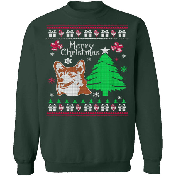 Corgi Ugly Christmas Sweater CustomCat