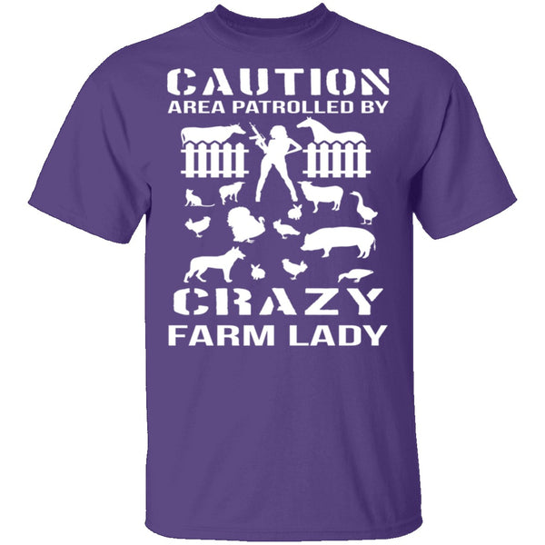 Crazy Farm Lady T-Shirt CustomCat