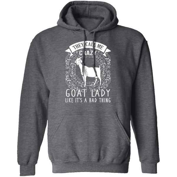 Crazy Goat Lady T-Shirt CustomCat