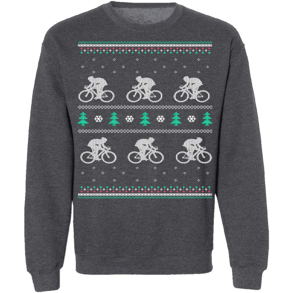 Cycling Ugly Christmas Sweater CustomCat