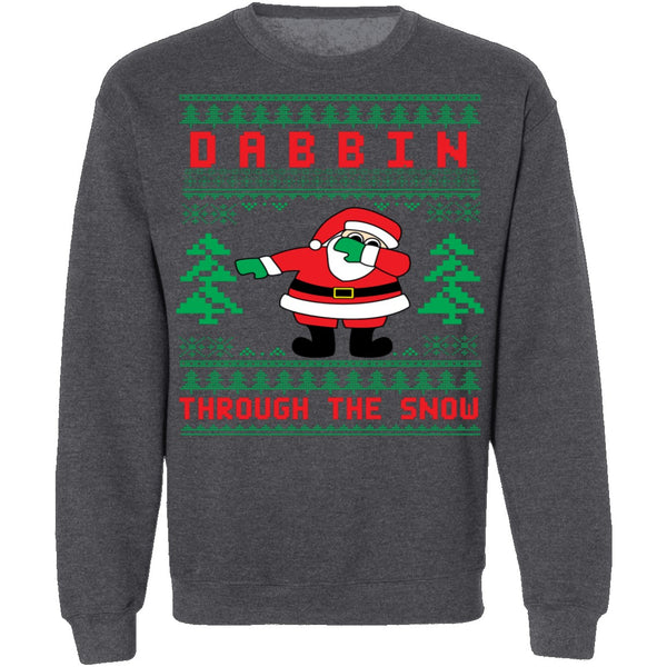 Dabbing Ugly Christmas Sweater CustomCat