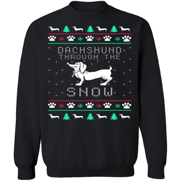 Dachshund Ugly Christmas Sweater CustomCat