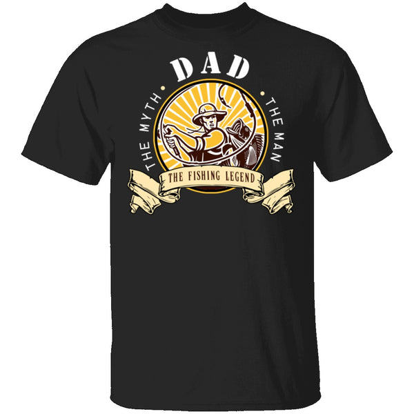Dad Fishing Legend T-Shirt CustomCat