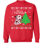 Dalmation Ugly Christmas Sweater CustomCat