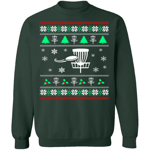 Disc Golf Ugly Christmas Sweater CustomCat
