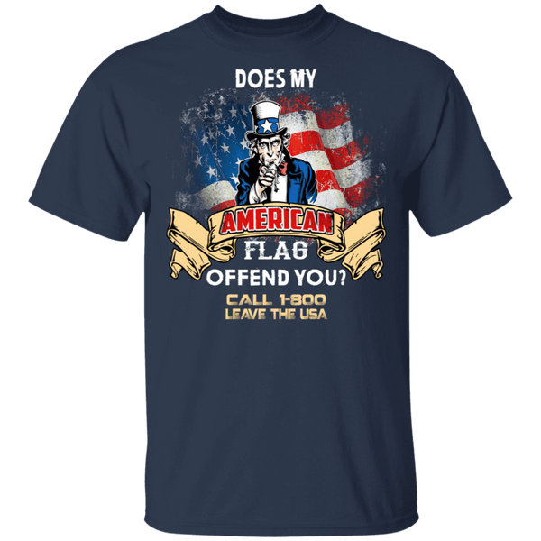 Does My American Flag Offend You T-Shirt CustomCat