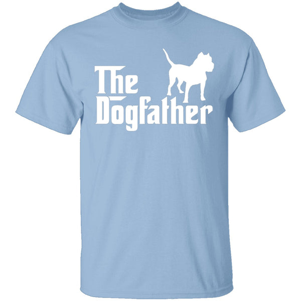 Dogfather Pitbull T-Shirt CustomCat