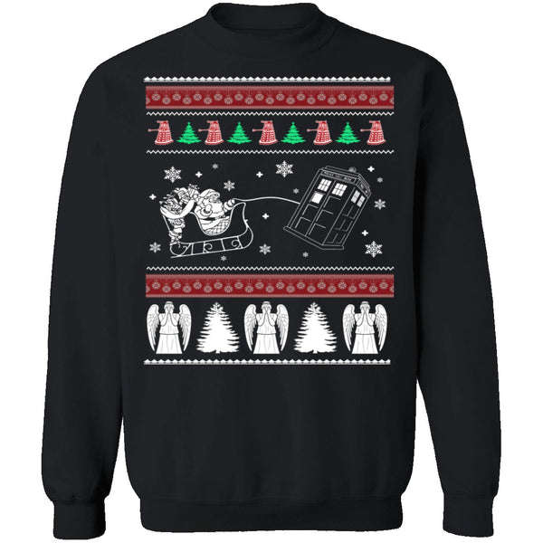 Dr Who Ugly Christmas Sweater CustomCat
