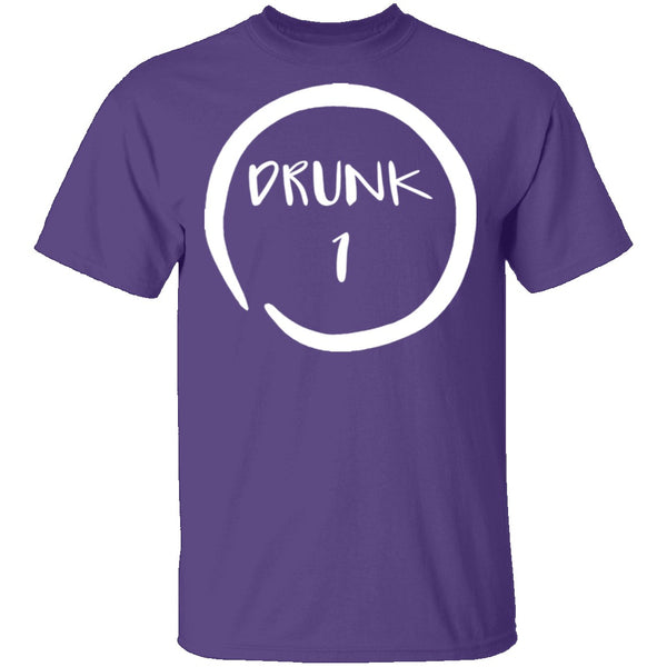Drunk 1 T-Shirt CustomCat