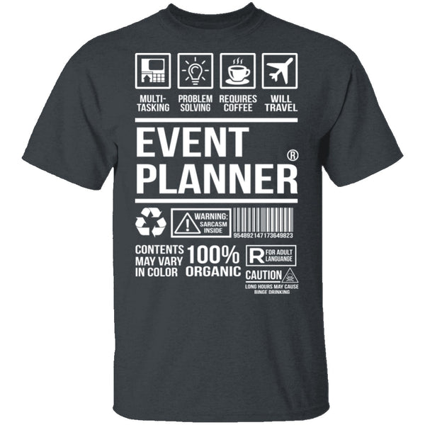 Event Planner T-Shirt CustomCat