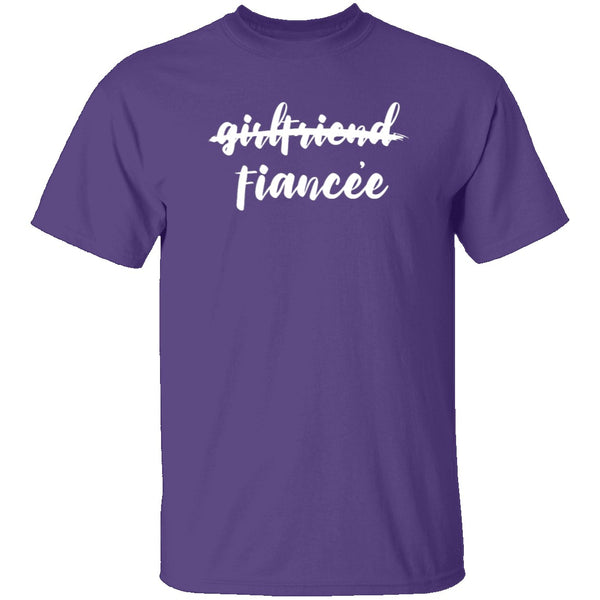 Fiancee (Girlfriend) T-Shirt CustomCat