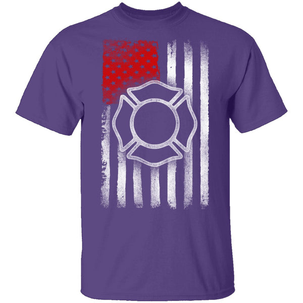 Firefighter Flag T-Shirt CustomCat