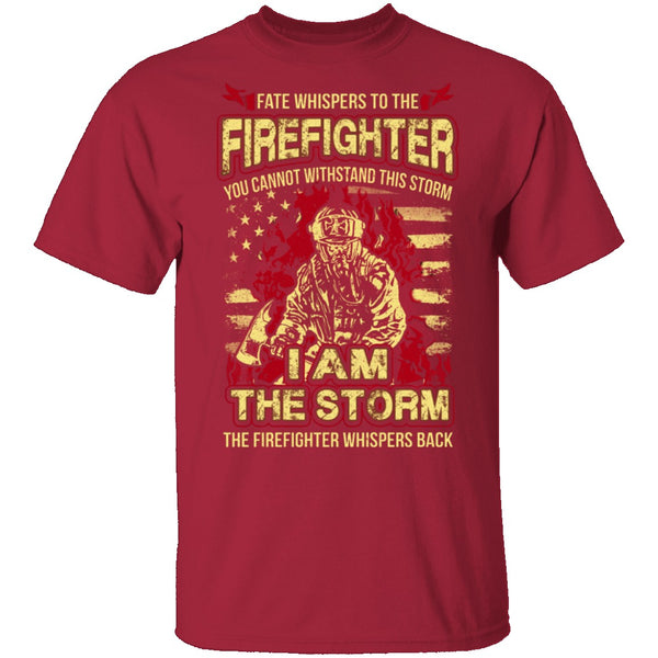 Firefighter Storm T-Shirt CustomCat